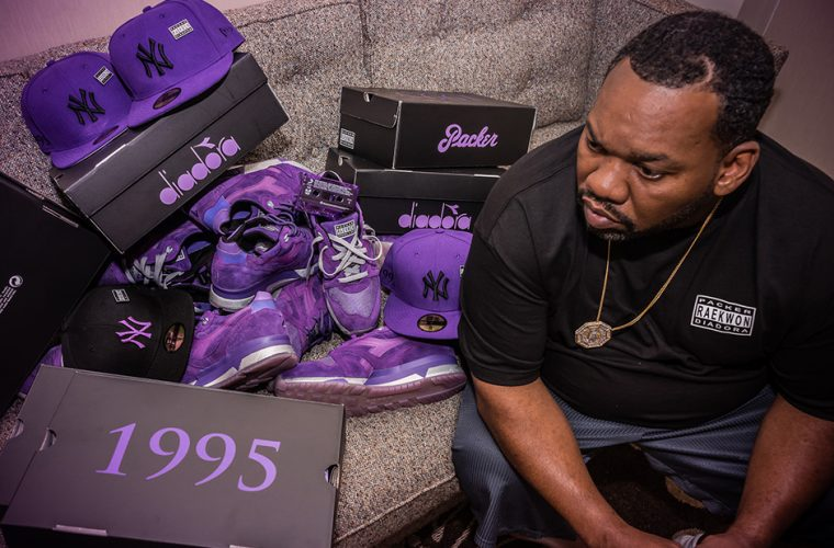 "RAEKWON X PACKER SHOES X DIADORA N9000 ""PURPLE TAPE"""
