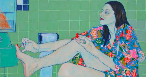 La noia è protagonista dei dipinti di Hope Gangloff