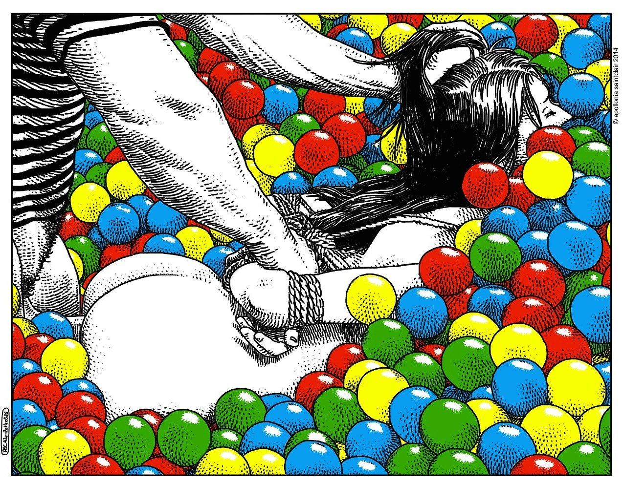 Le illustrazioni erotiche di Apollonia Saintclair | Collater.al