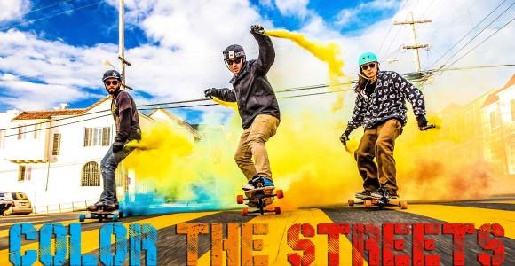 Color the Streets - Smoke Grenade Freebording