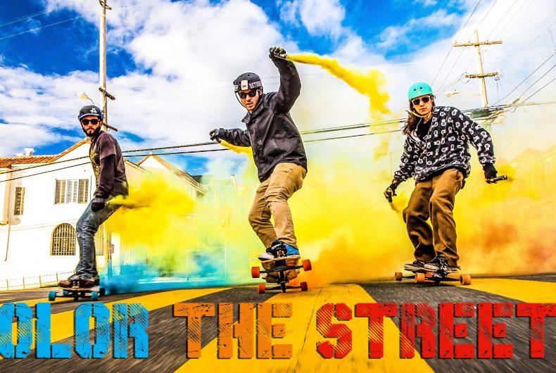 Color the Streets – Smoke Grenade Freebording