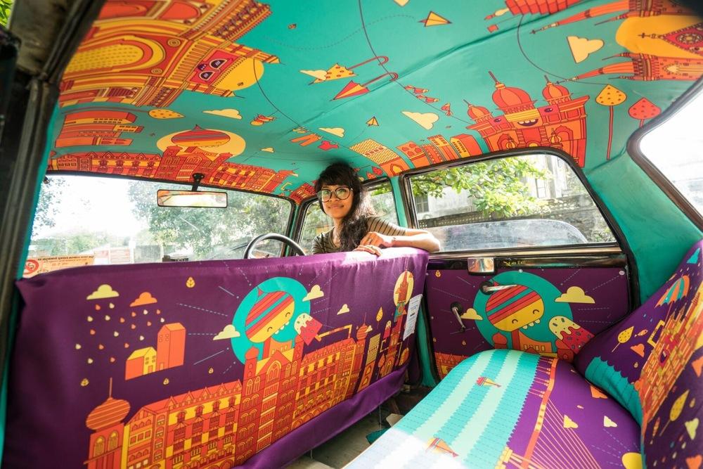 Gli stravaganti taxi di Mumbai