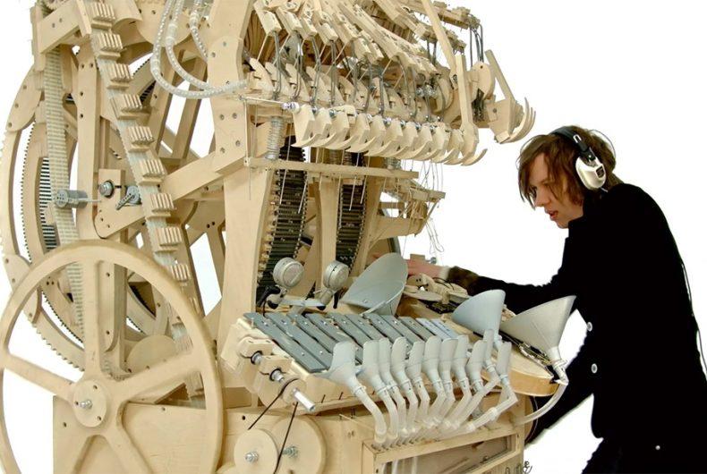 La Wintergatan Marble Machine di Martin Molin