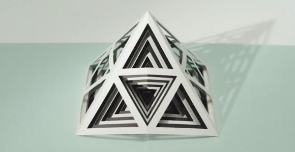 I pop-up book geometrici di Tauba Auerbach | Collater.al