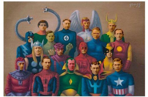 I supereroi vintage di Alex Gross