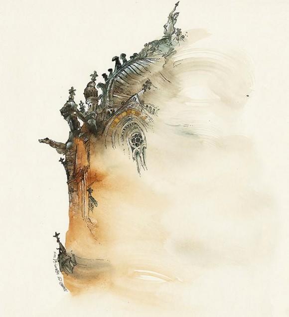 Le architetture ad acquerello di Sunga Park | Collater.al