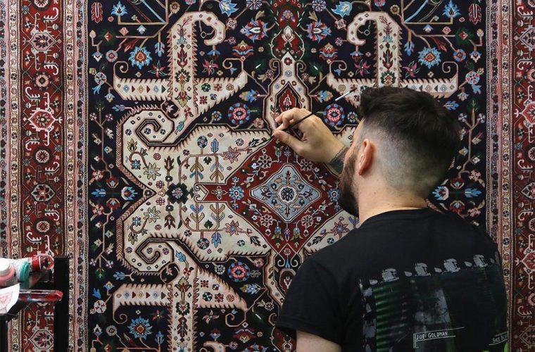 I tappeti persiani dipinti a mano da Jason Seife