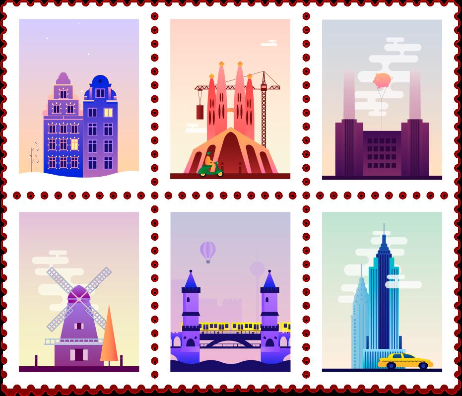 Animated Post Stamps - I francobolli animati di Claudia Mussett   Collater.al 2