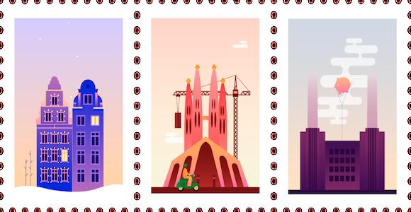 I francobolli animati di Claudia Mussett