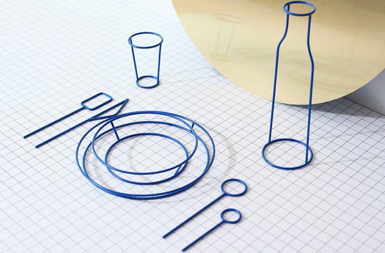 Il set da tavola non funzionale dello Studio Dessuant Bone