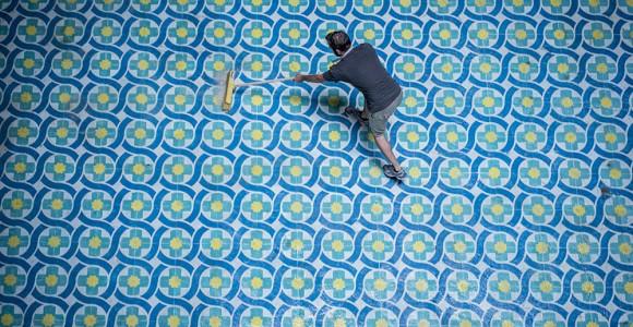 Floors - I pavimenti dipinti di Javier de Riba | Collater.al