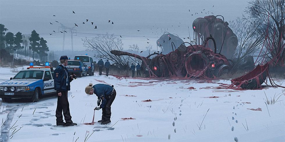 La distopia sci-fi dei quadri di Simon Stålenhag