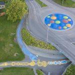 Le gigantesche opere sull'asfalto di Peter Gibson | Collater.al