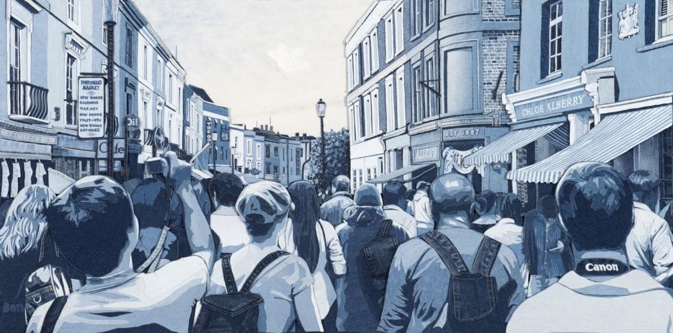 I dipinti in jeans di Ian Berry | Collater.al