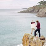 I surreali self-portrait landscape dipinti da Hank Schmidt e fotografati da Fabian Schubert | Collater.al
