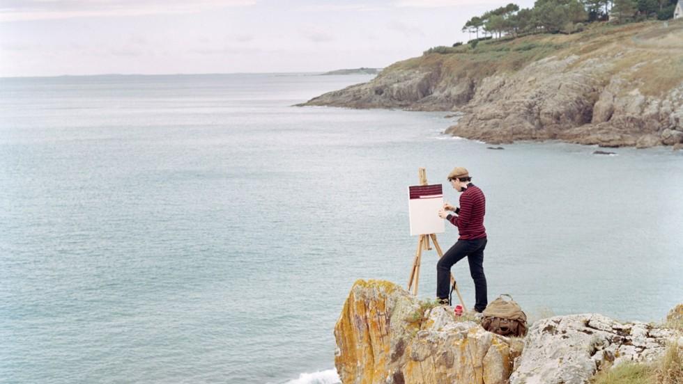 I surreali self-portrait landscape dipinti da Hank Schmidt e fotografati da Fabian Schubert   Collater.al