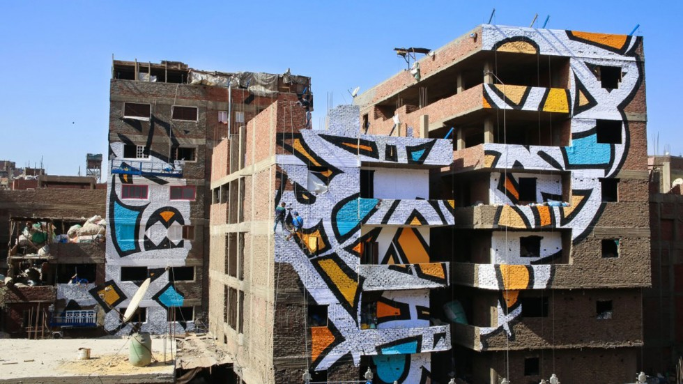 Perception - Il graffito optical di El Seed al Cairo | Collater.al