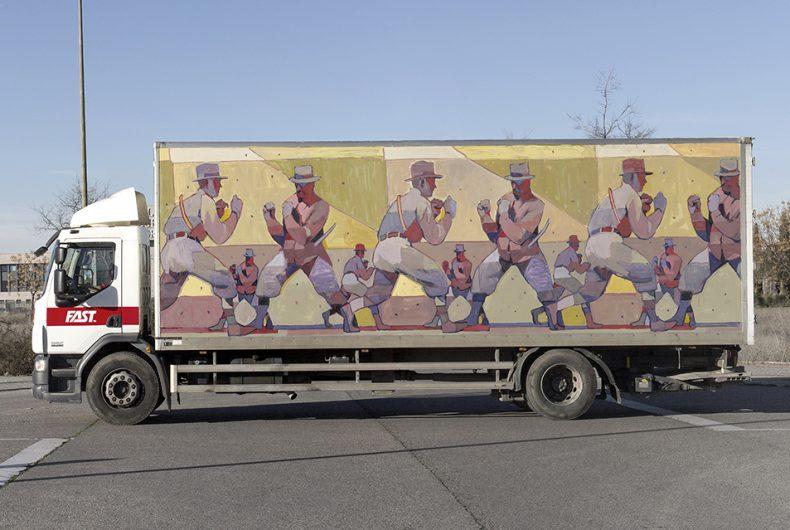 Aryz a lavoro per il 'Truck Art Project'