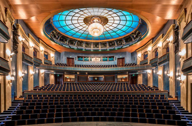 Auditorium, the perfect architectural symmetry of photographer Zsolt Hlinka