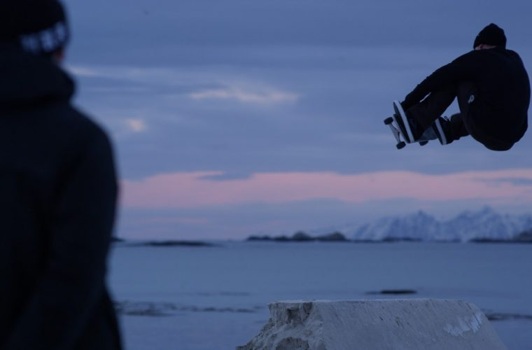 Short video for Breakfast – NORTHBOUND, Skateboarding on Frozen Sand