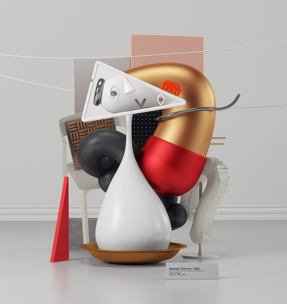 I dipinti di Pablo Picasso in 3D dell'artista Omar Aquil | Collater.al 10