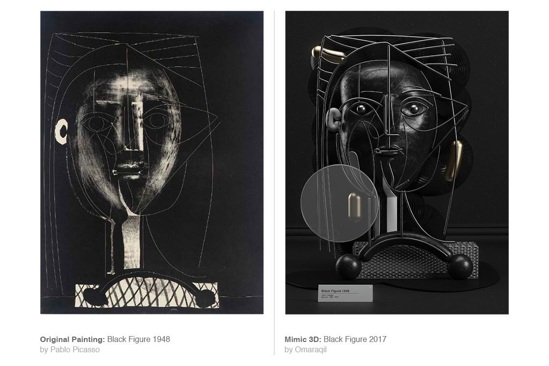 I dipinti di Pablo Picasso in 3D dell'artista Omar Aquil | Collater.al 11