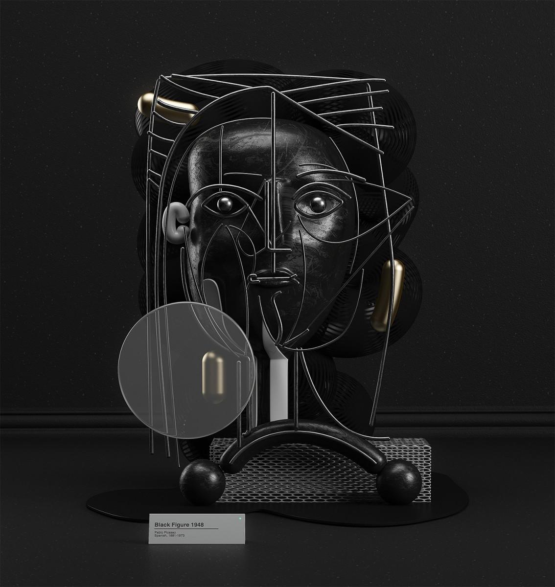 I dipinti di Pablo Picasso in 3D dell'artista Omar Aquil | Collater.al 12