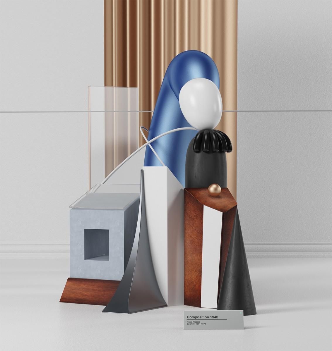 I dipinti di Pablo Picasso in 3D dell'artista Omar Aquil | Collater.al 2