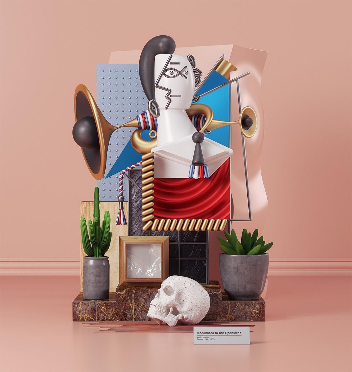 I dipinti di Pablo Picasso in 3D dell'artista Omar Aquil | Collater.al 4