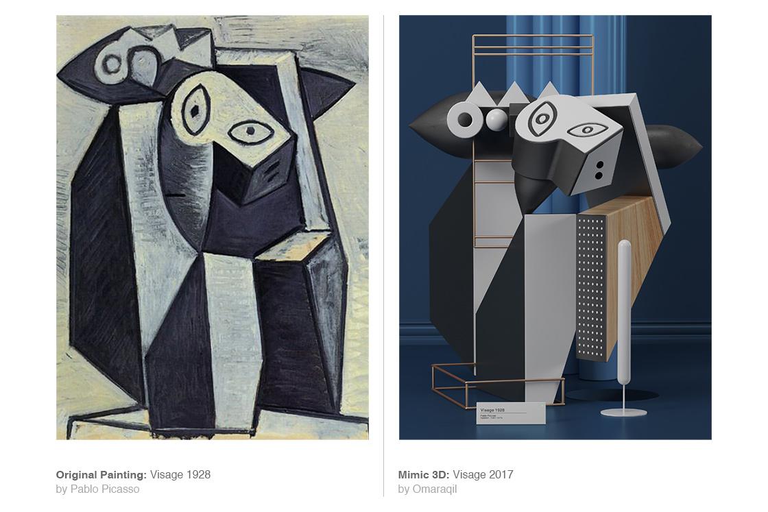 I dipinti di Pablo Picasso in 3D dell'artista Omar Aquil | Collater.al 7
