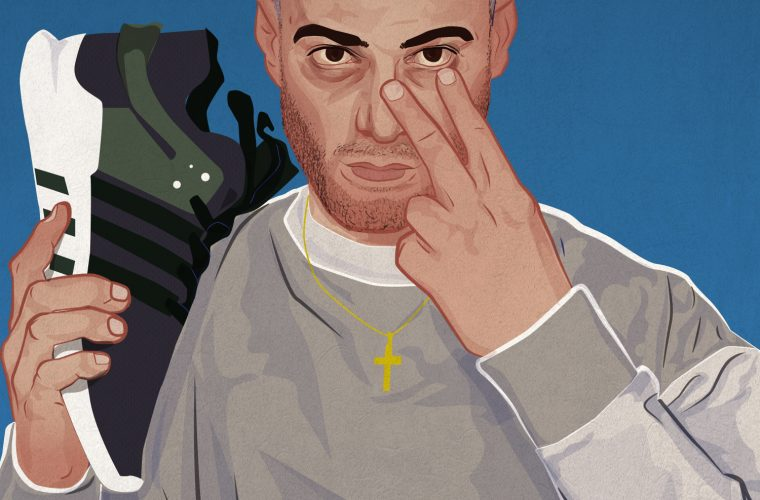 The Italian rapper illustrated by Guido Astolfi