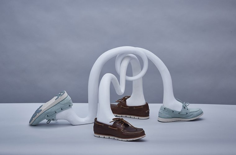 The iconic Timberland Boat Shoe comes to life through the installation of Matteo Cibic