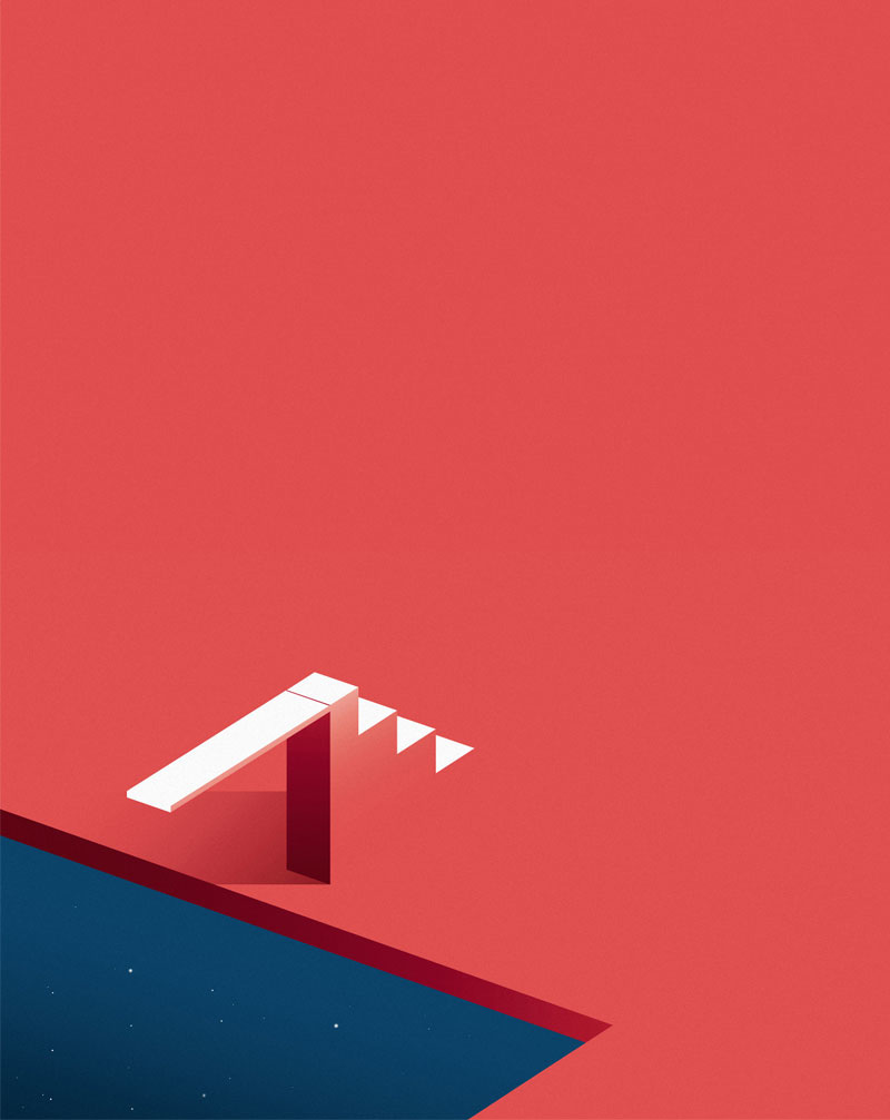 Le illustrazioni geometriche di Ray Oranges | Collater.al