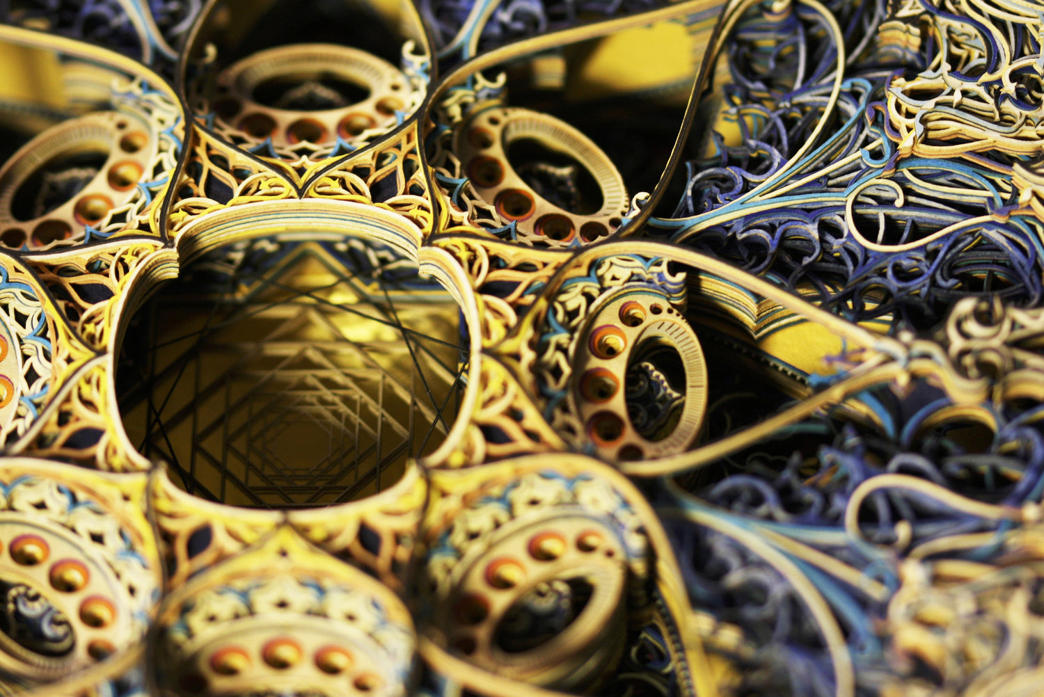 Eric Standleys Laser Cut Paper Art Works Collateral - Beautiful laser cut paper art eric standley
