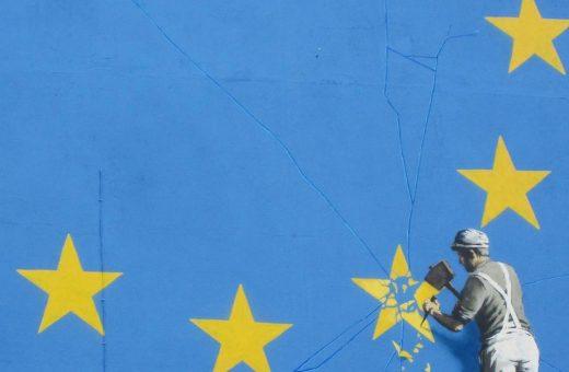 Brexit in the new Banksy' murals in Dover