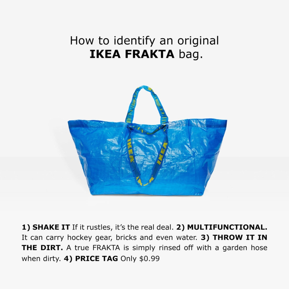 La Frakta bag di Ikea si trasforma in capi e accessori fatti a mano | Collater.al