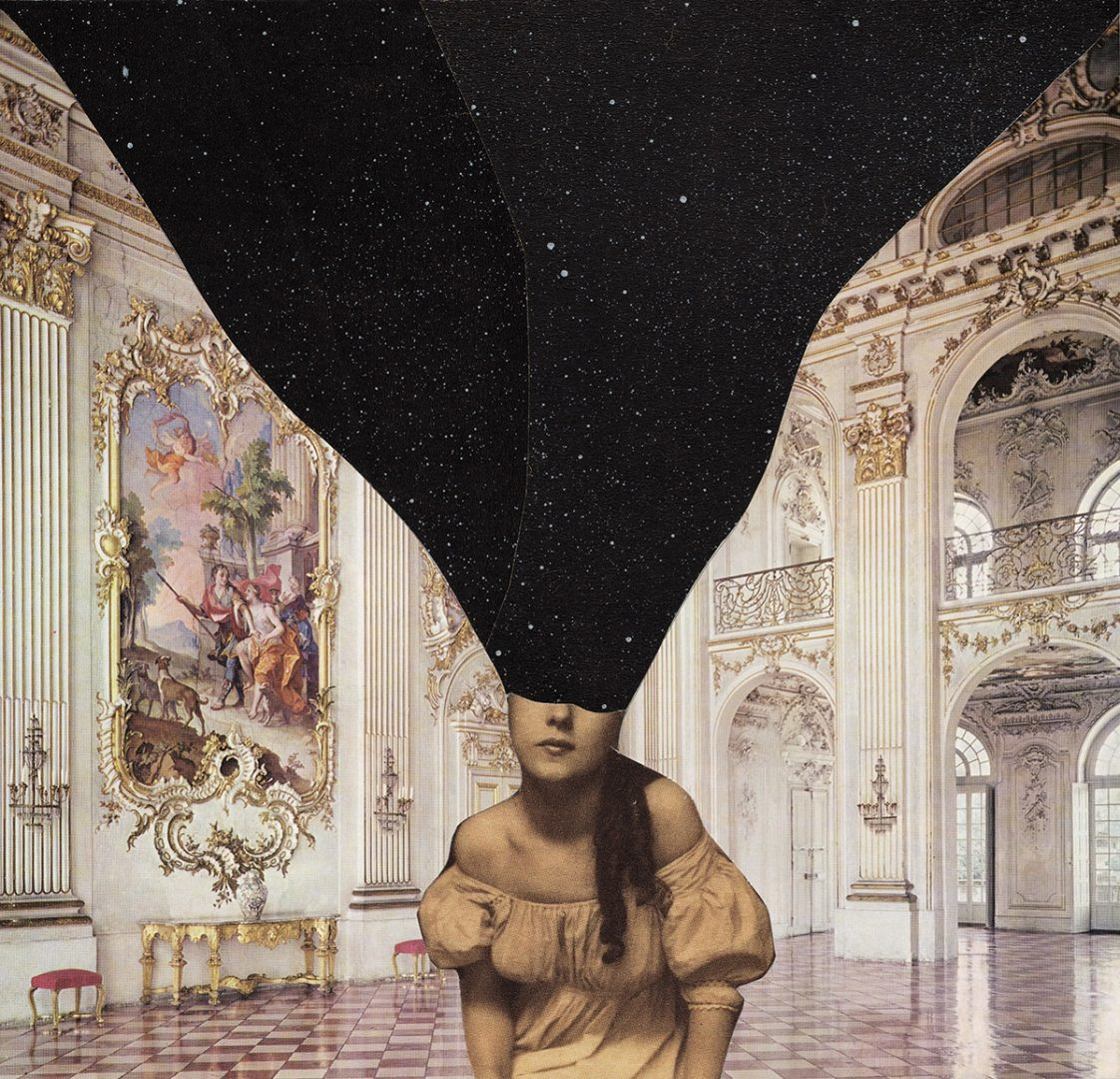 Needle shaped silence i collage fatti a mano di jerum - Amanda maison segunda mano ...