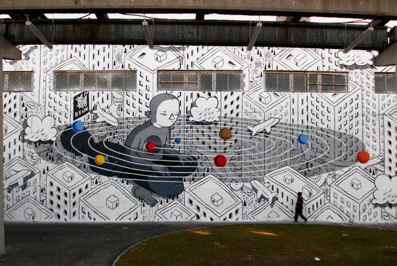 Rivoluzione, l'ultimo murales di Millo in Russia