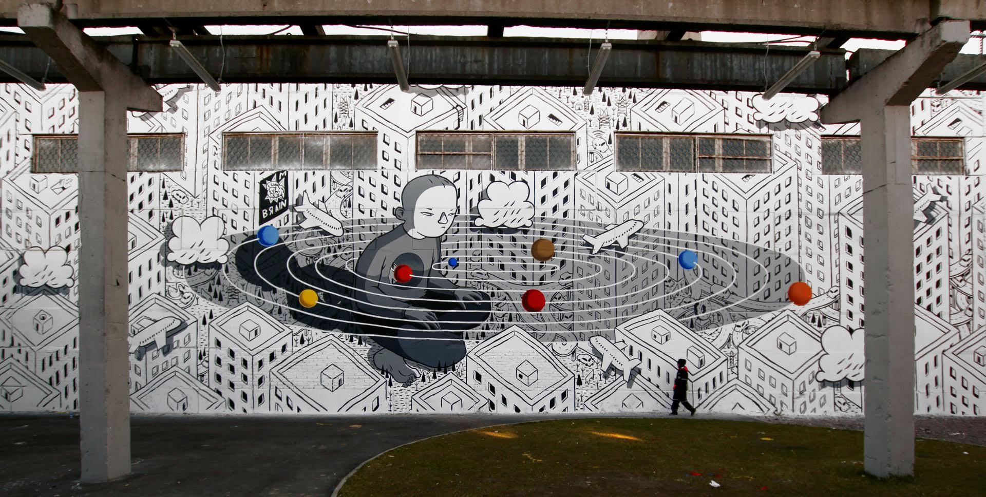 Rivoluzione, l'ultimo murales di Millo in Russia | Collater.al 1