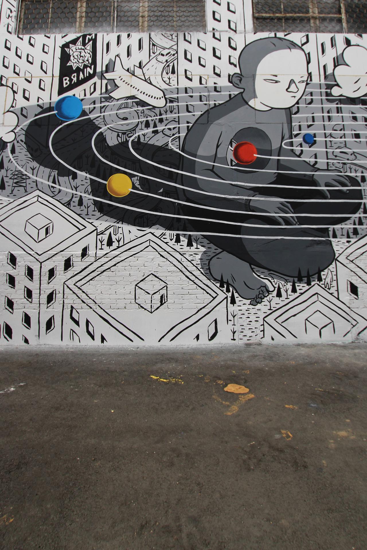 Rivoluzione, l'ultimo murales di Millo in Russia | Collater.al 3