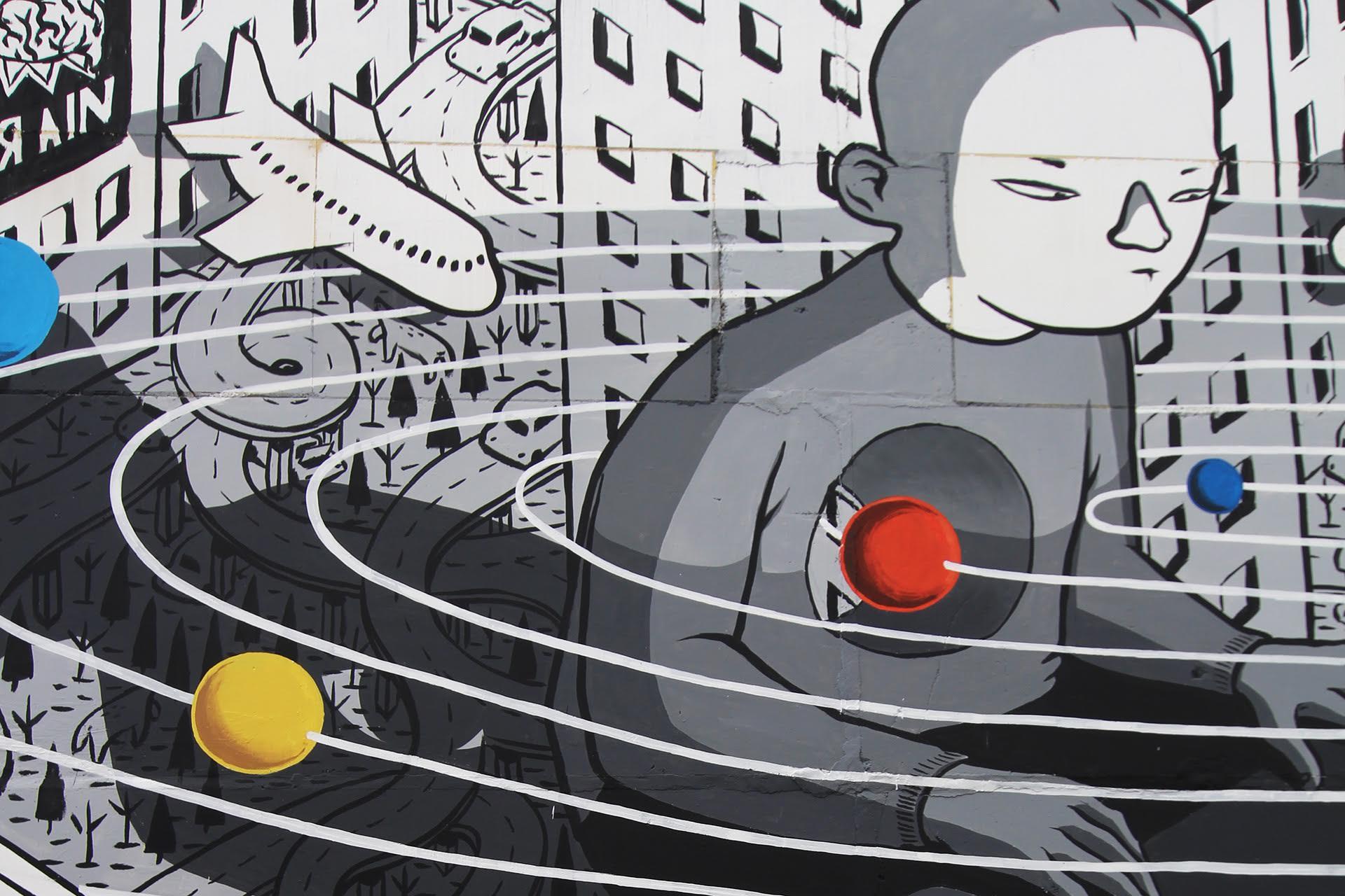 Rivoluzione, l'ultimo murales di Millo in Russia | Collater.al 4