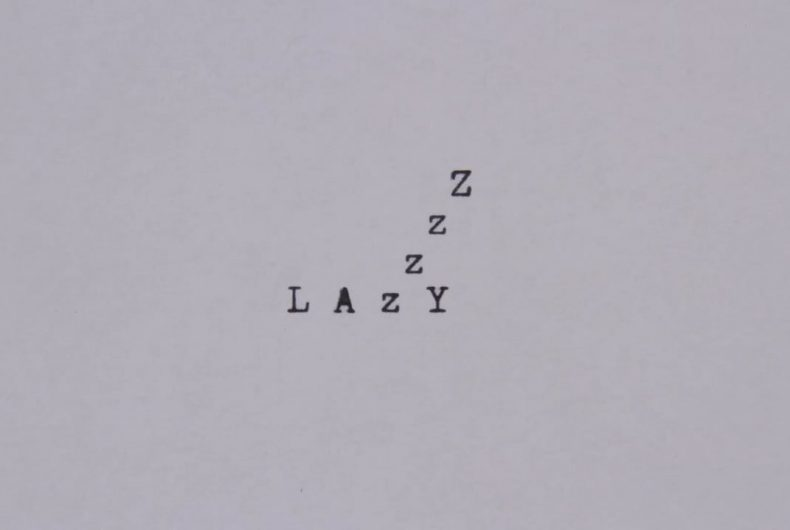 Short video for Breakfast – Disillusionment of 10 point font, i font interattivi di Greg Condon