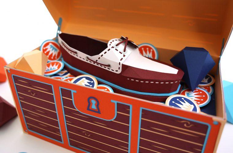 Lo sbalorditivo artwork in paper art di Zim & Zou per Timberland Boat Shoe