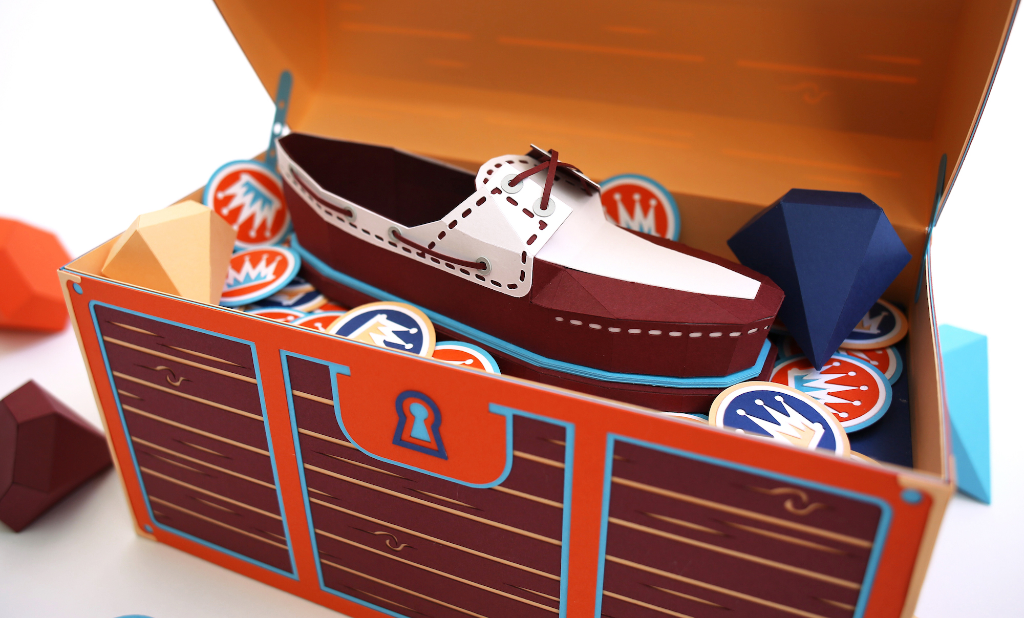 L'artwork in paper art di Zim & Zou per Timberland Boat Shoe | Collater.al