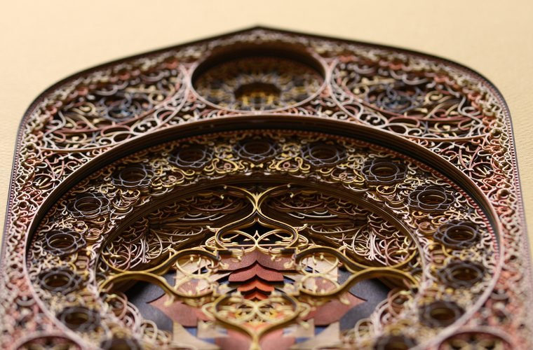 Eric Standley's laser cut paper art works
