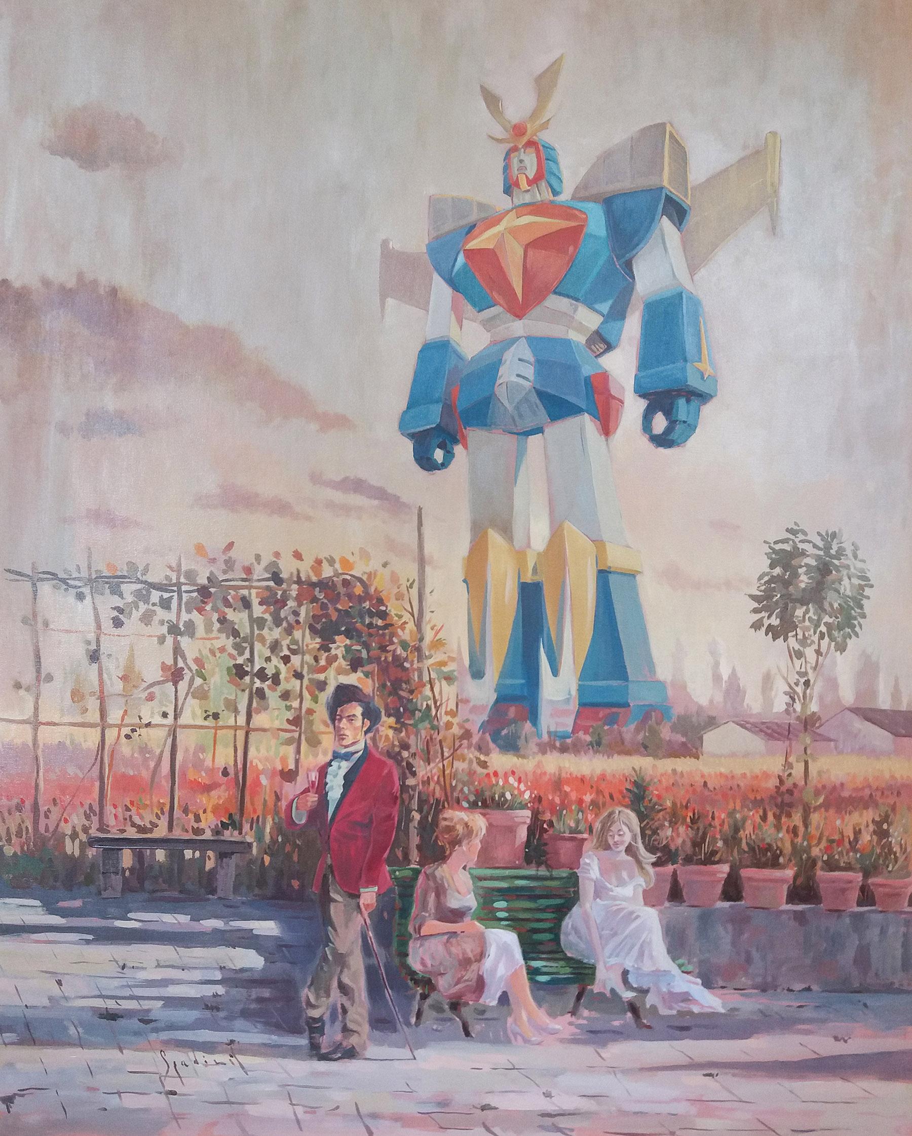 Futuro Anteriore, i Robot dipinti ad olio di Fabrizio Spadini | Collater.al