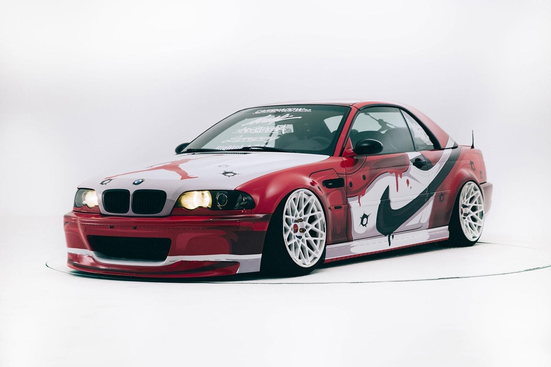 La BMW M3 customizzata con il colour scheme delle Nike Air Jordan 1 Chicago | Collater.al
