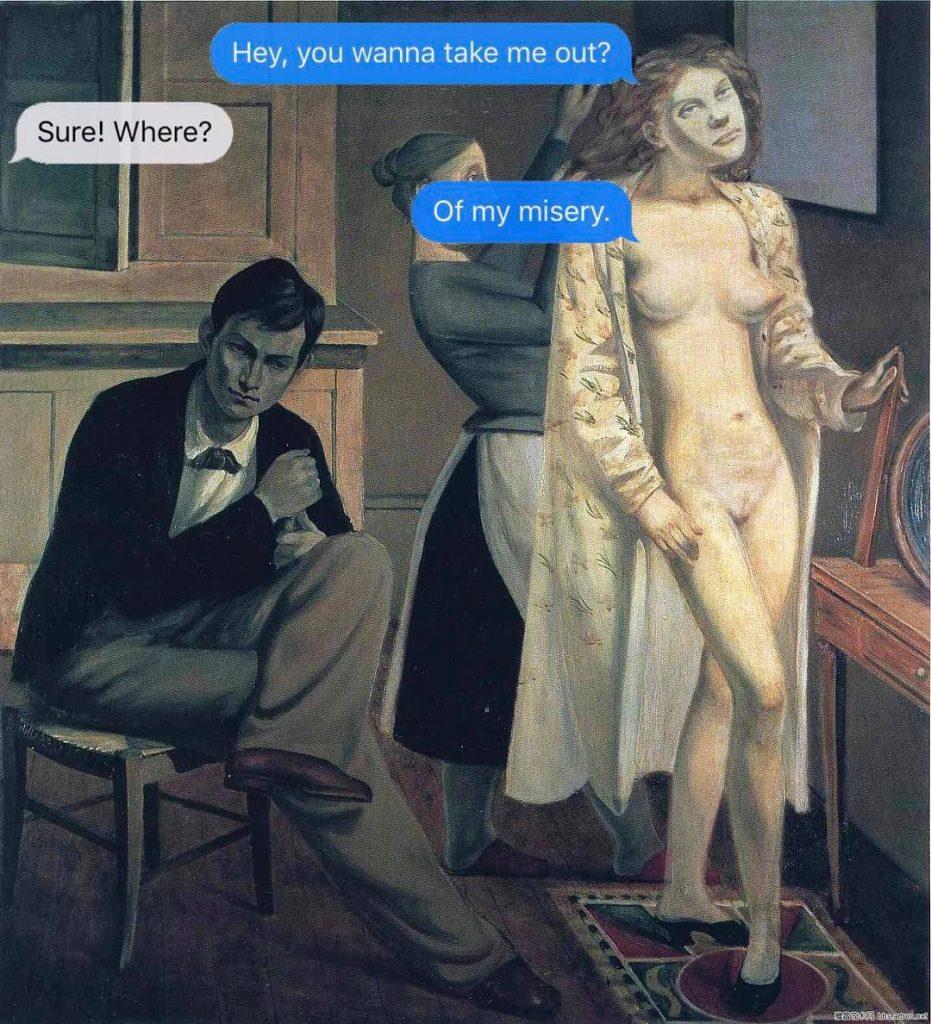 Texts From Your Existentialist, gli sms esistenzialisti delle opere d'arte | Collater.al