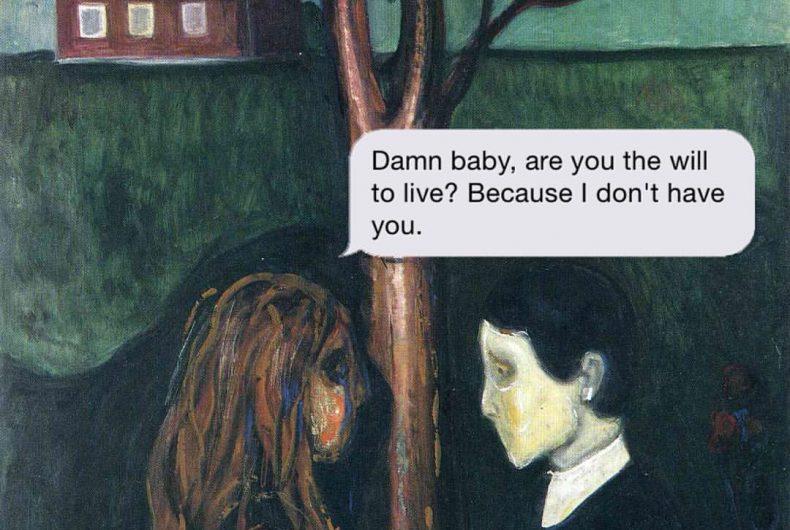 Texts From Your Existentialist, gli sms esistenzialisti delle opere d'arte