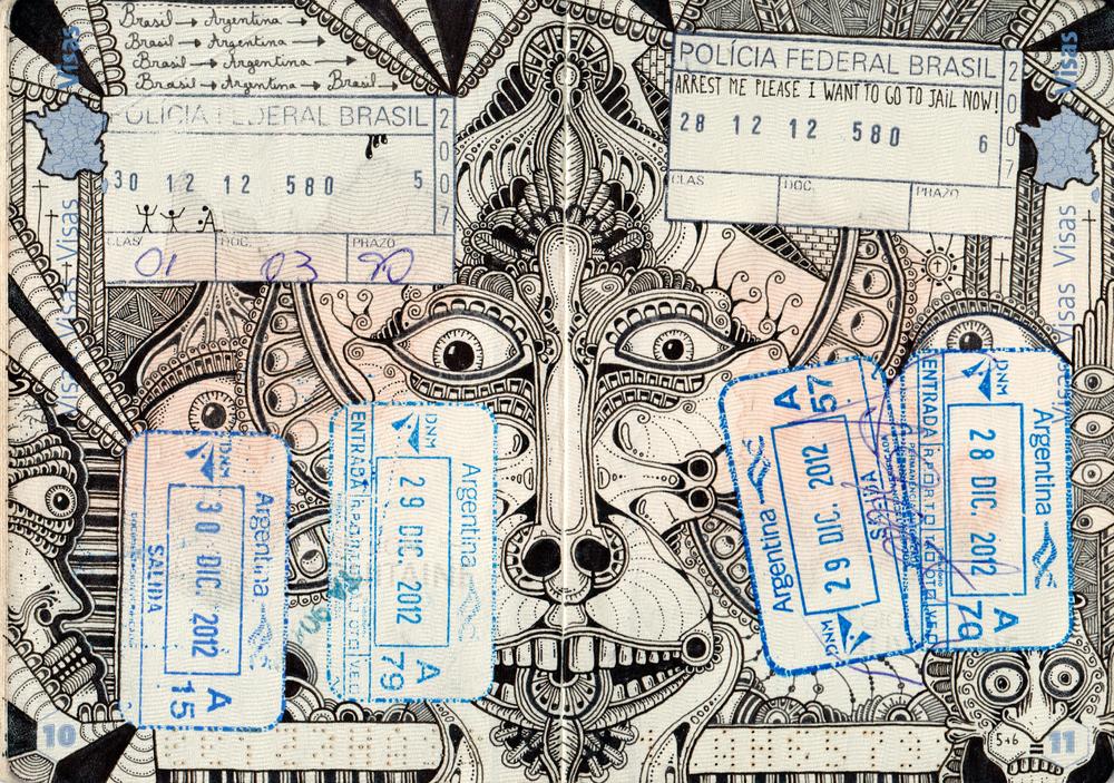 I passaporti pieni di doodles di Leonard Combier | Collater.al